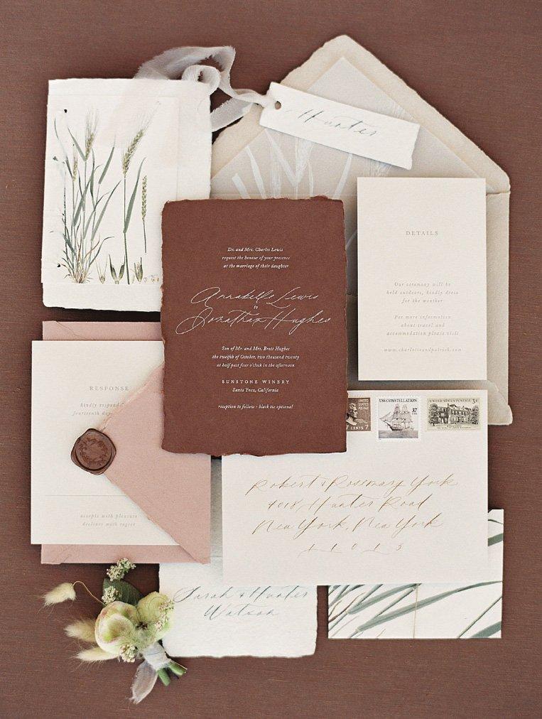 Custom Fall Invitation by Plume