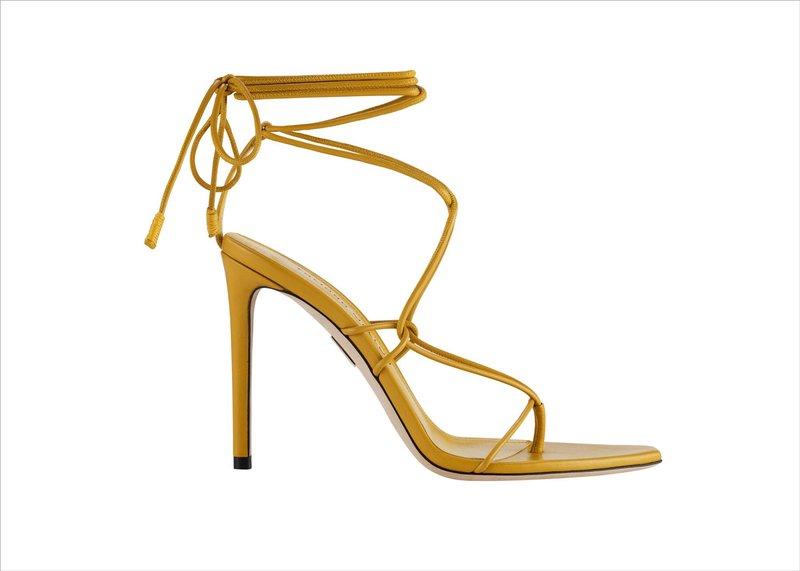 """Nikki"" Yellow Heels by Tamara Mellon"