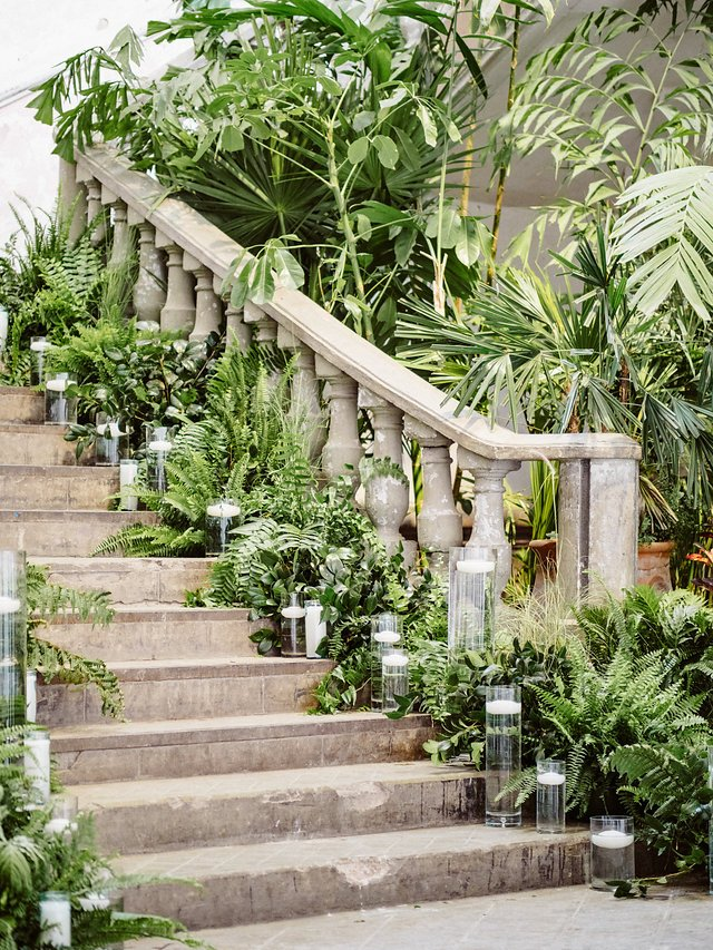 Destination Wedding Décor on Staircase