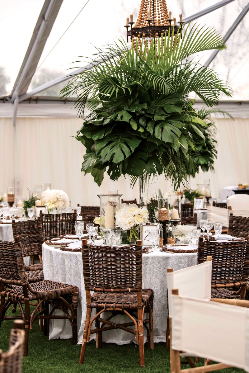 Tropical Beach-Inspired Reception