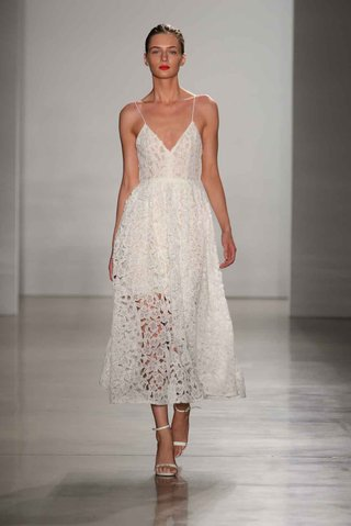 amsale-fall-2016-tea-length-v-neck-spaghetti-strap-wedding-dress