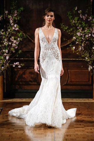 isabelle-armstrong-spring-2017-joey-deep-v-wedding-dress-with-embroidered-bodice-lace-mermaid-skirt