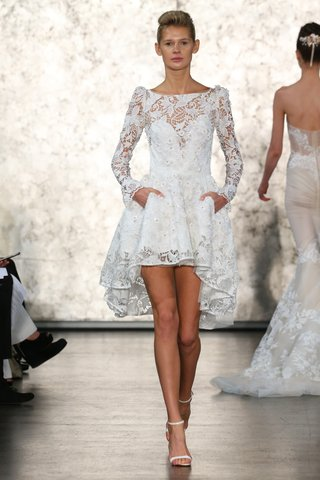 inbal-dror-lace-long-sleeve-short-wedding-dress