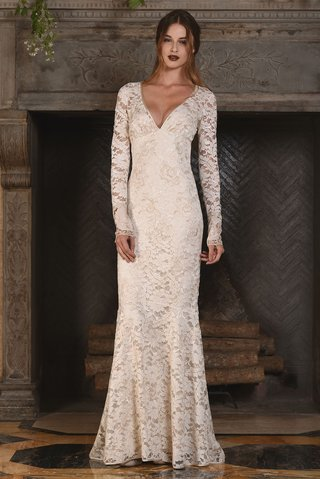 amber-long-sleeve-ecru-cotton-lace-v-neck-embroidery-copper-accents-claire-pettibone-wedding-dress