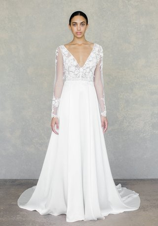 santorini-by-claire-pettibone-spring-2019-long-sleeve-beaded-flower-bodice-silk-charmeuse-skirt