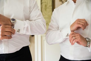 silver-dog-cuff-links-dress-watches-groom-accessories-white-collar-shirts