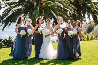 mismatched-bridesmaids-dresses-bride-and-bridesmaids