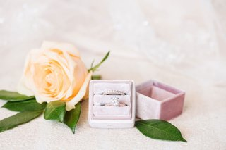 bridal-jewelry-rose-gold-solitaire-engagement-ring-pave-band-wedding-ring-velvet-pink-ring-box-rose