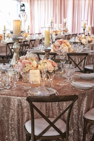 wedding-reception-table-with-sequin-linen-and-pink-peonies