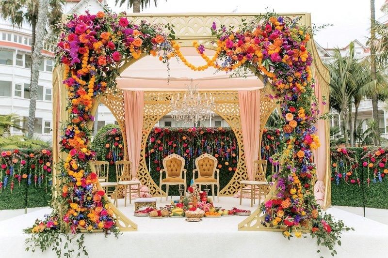 Mandap at Outdoor Wedding Ceremony