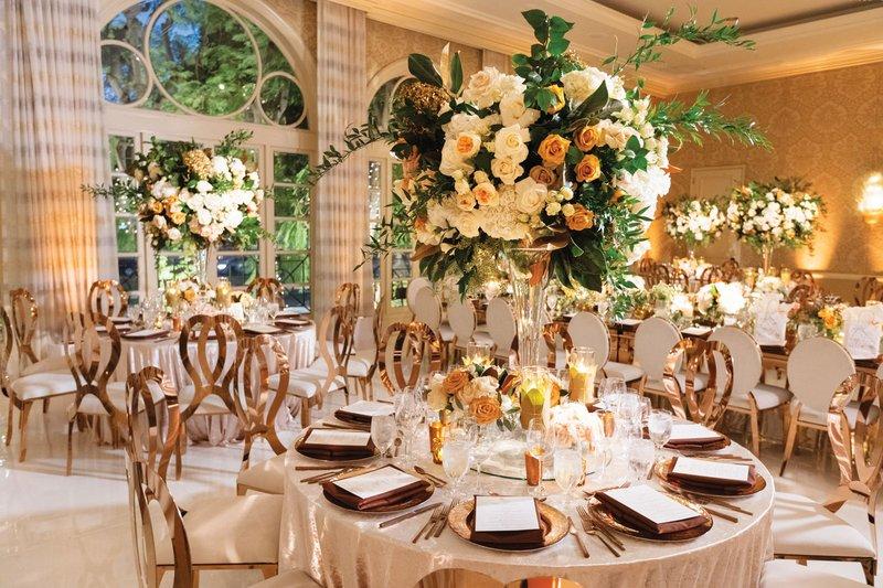 Ivory, Gold & Greenery Wedding Reception