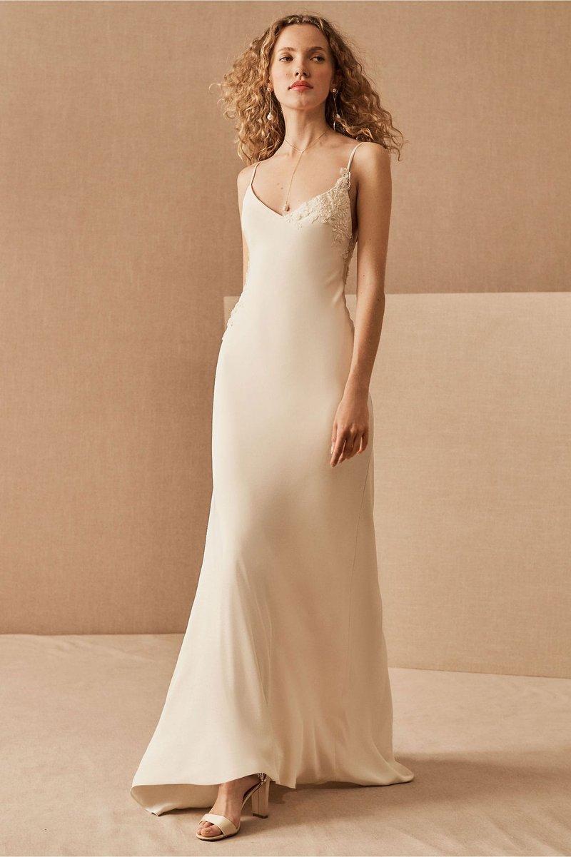 """""""Celeste"""" Slip Wedding Dress"""