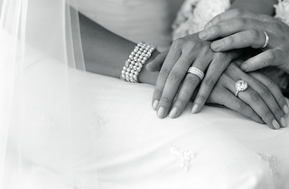 black-and-white-picture-of-bride-and-groom-jewelry