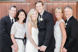 bride-in-hayley-paige-dress-groom-mothers-in-white-lace-dresses