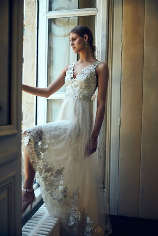 opal-marchesa-notte-bhldn-v-neck-wedding-dress-with-flower-embroidery-on-bodice-and-hem