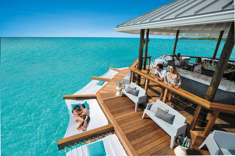 Hammock Over Water by Sandals Resorts Bar