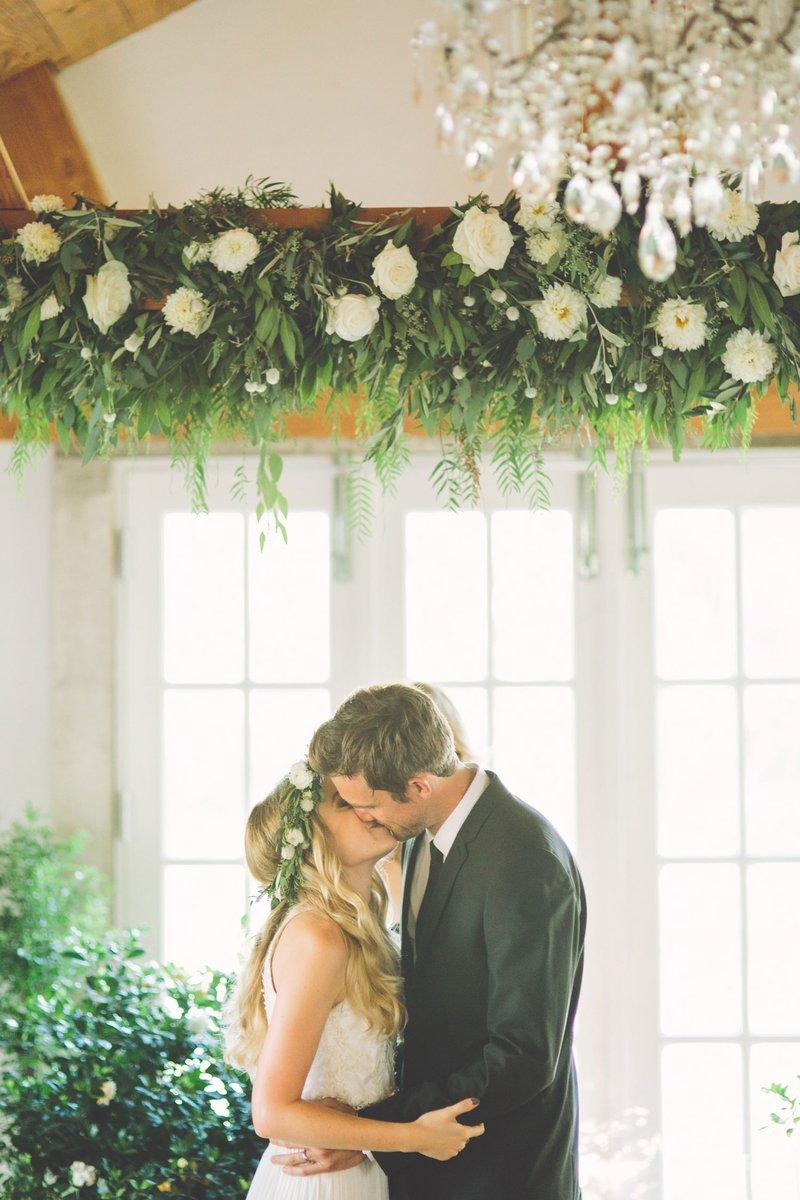 Tyler Hilton & Megan Park's Wedding Kiss