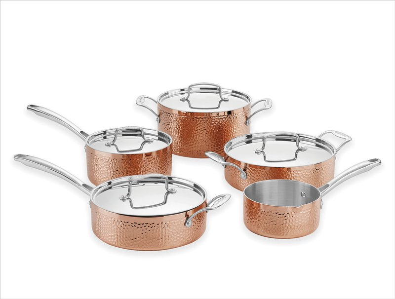 Cuisinart Tri-ply Copper 10-piece Cookware Set