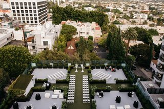 drone-wedding-photography-birds-eye-view-of-rooftop-ceremony