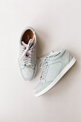 wedding shoes silver sparkle sneakers for wedding reception after party