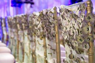 flower-applique-on-wedding-ceremony-chair-backs