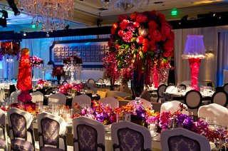 unique-damask-chair-covers-around-long-reception-table