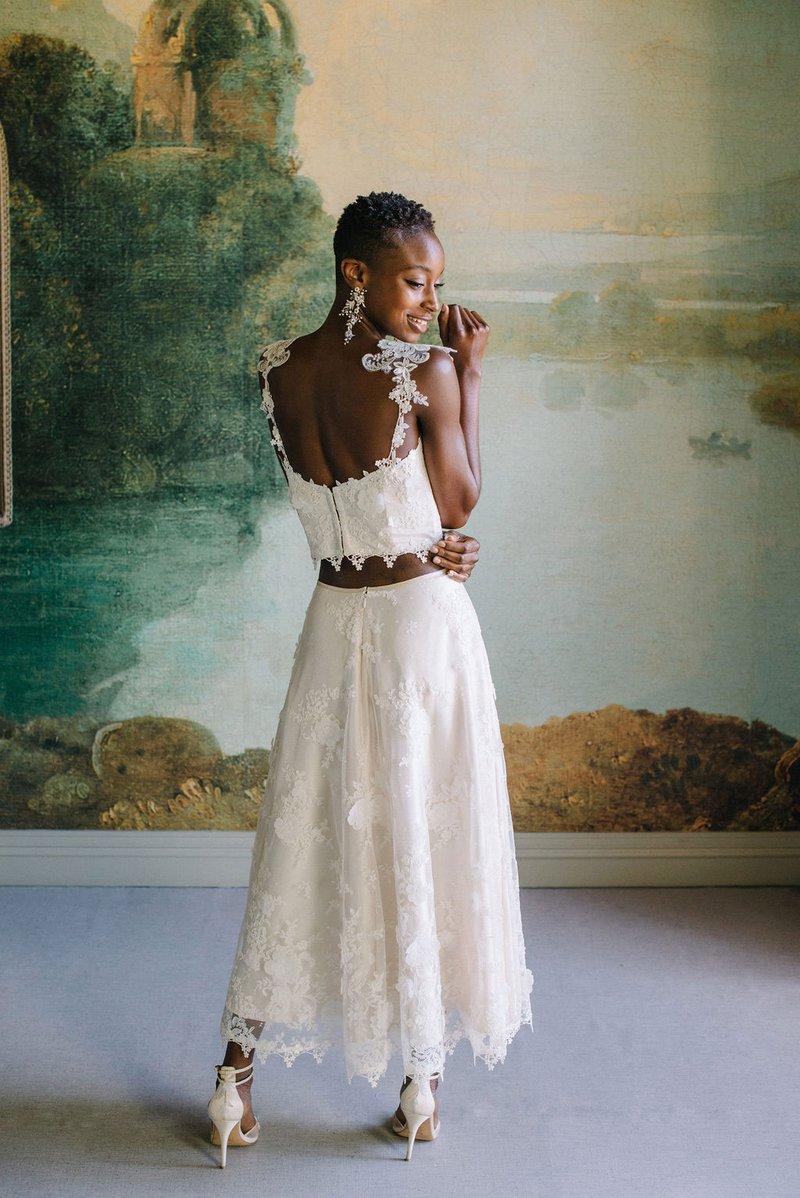 """Magnolia"" Corset Top & Skirt by Claire Pettibone"