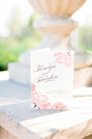 wedding-vow-renewal-program-with-watercolor-pink-rose-design