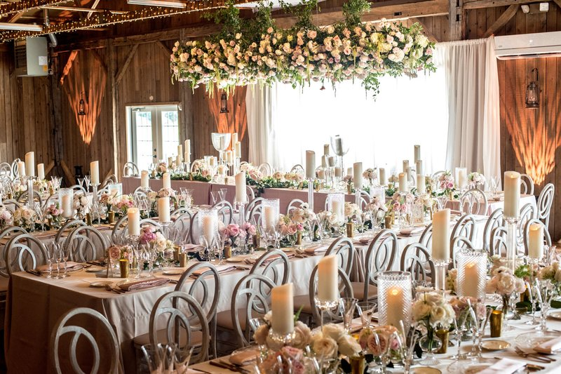 Rustic Reception with Feminine Touches