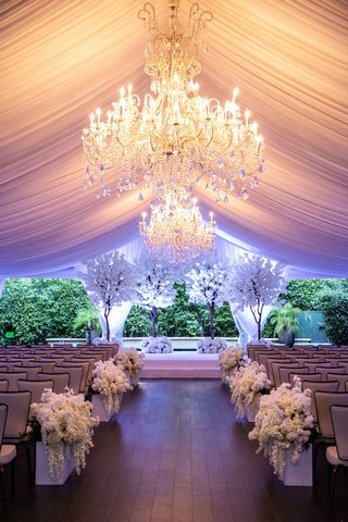 four-seasons-los-angeles-at-beverly-hills-wedding-ceremony-chandelier-drapery-white-trees-cherry
