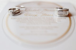 vintage-inspired-engagement-ring-and-mens-wedding-ring-with-diamonds