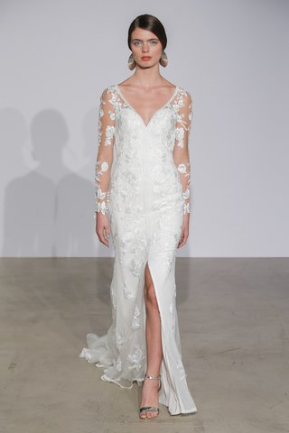 justin-alexander-fall-2018-v-neck-lace-gown-with-illusion-long-sleeves-with-floral-details