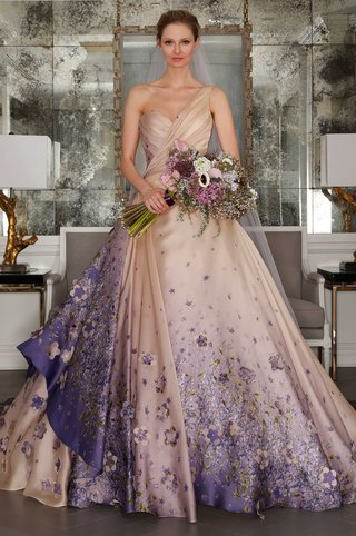 romona-keveza-collection-bridal-spring-2017-one-shoulder-purple-blush-ball-gown-flower-print