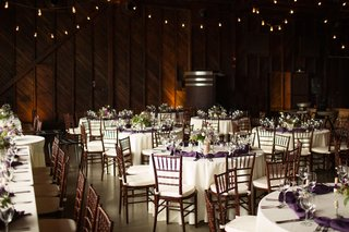 lyndsy-fonseca-and-noah-bean-wedding-ceremony-vineyard-wedding-reception-setting-wood-walls-white
