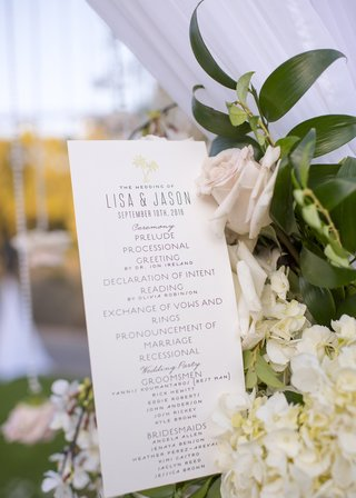 wedding-ceremony-program-with-order-of-events-and-list-of-wedding-party