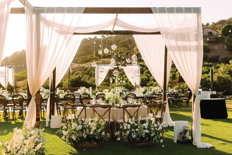Outdoor Reception with Canopy