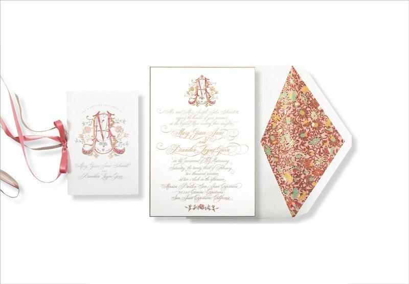 Colorful Monogram Invitation by Elizabeth Grace