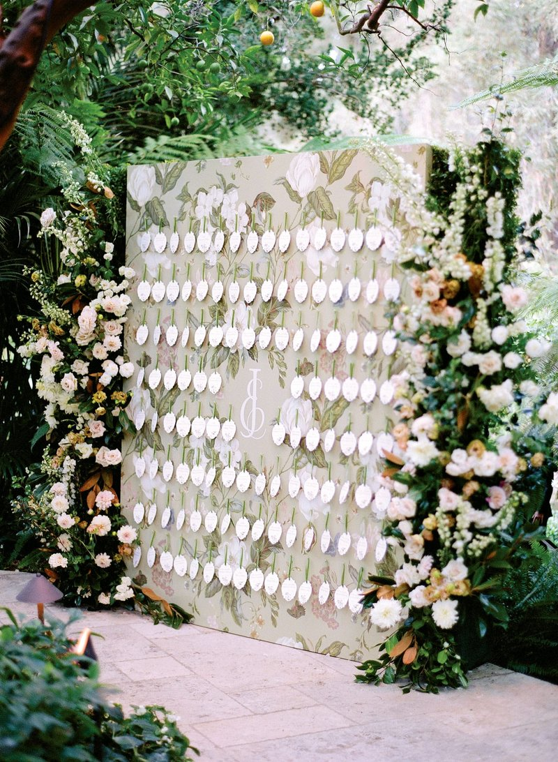 Floral Escort Card Wall
