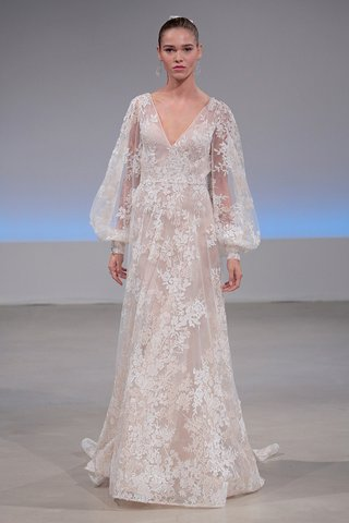 isabelle-armstrong-cameron-fall-2017-laser-cut-lace-threadwork-blouson-sleeves-blush-nude-underlay