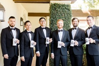 groom-and-groomsmen-with-custom-beer-steins-with-caricatures