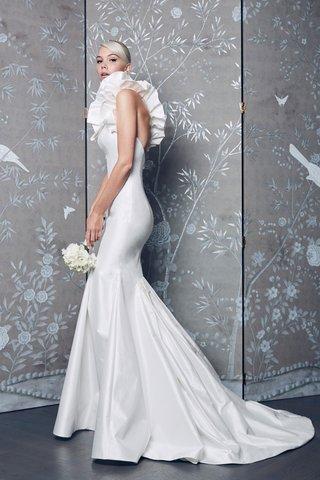 legends-romona-keveza-fall-2018-dramatic-ruffle-one-shoulder-wedding-dress-bodycon-fit-flare-trumpet