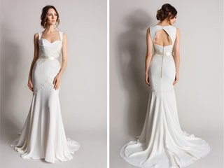 drop-waist-sheath-with-keyhole-back-and-queen-anne-neckline