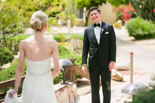 bride-and-groom-do-first-look-with-each-other-in-arizona