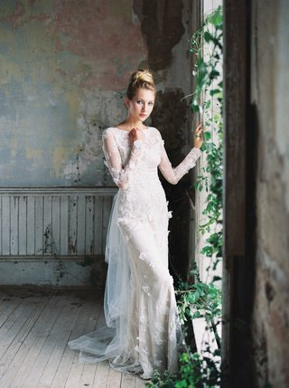 romantique-by-claire-pettibone-long-sleeve-wedding-dress-with-lace-and-beaded-organza-flowers