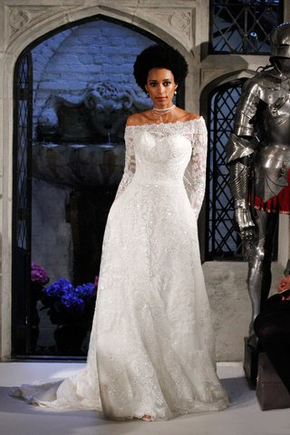 oleg-cassini-spring-2018-wedding-dress-off-shoulder-long-sleeve-beaded-dress-a-line-gown-sequins
