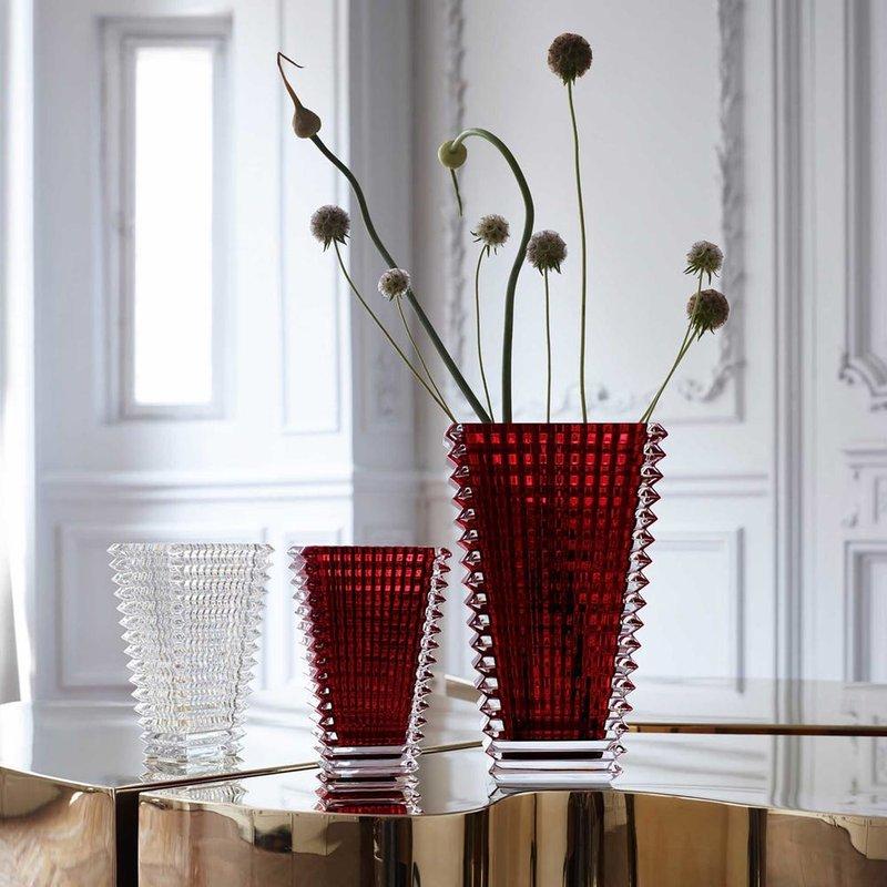 Baccarat Eye Rectangular Vases in Red