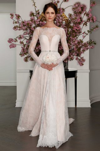 blush-chantilly-lace-long-sleeve-gown-illusion-neckline-lydia-hearst-legends-romona-keveza