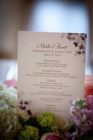 wedding-reception-menu-with-purple-grapevines