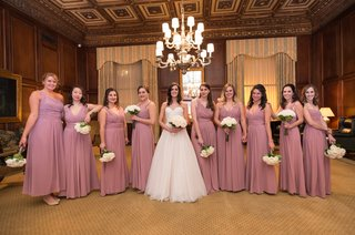bride-in-essence-of-australia-wedding-dress-bridesmaids-in-dusty-rose-monique-lhuillier-dresses