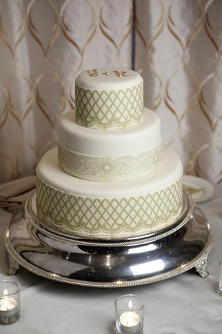 three-layer-wedding-cake-with-gold-initials